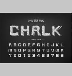 pencil font and cartoon alphabet sketch square vector image