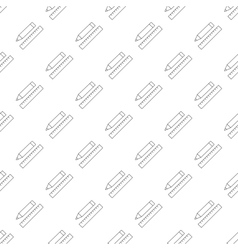 Pencil with ruler pattern seamless vector image