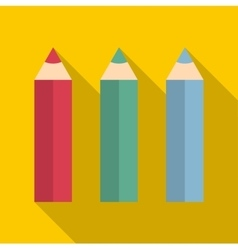 Pencils icon flat style vector image