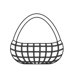 picnic basket icon vector image