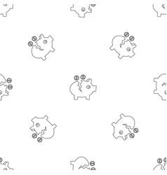 piggy bank pattern seamless vector image