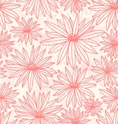 Pink flowers vector image vector image