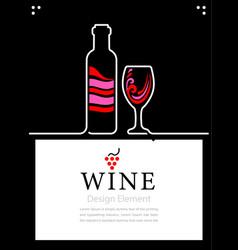 Poster or web banner for restaurant bar alcoholic vector