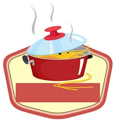 Pot and sign vector image