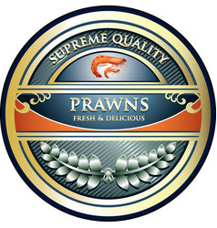 Prawns gold icon vector