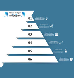 pyramid business infographics origami style vector image