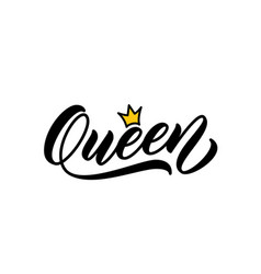 Queen handwritten word vector