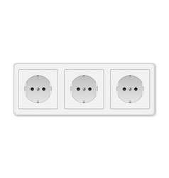 Realistic electric socket vector