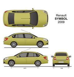 Renault symbol 2009 vector