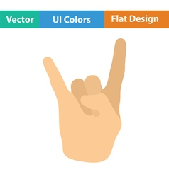 Rock hand icon vector image