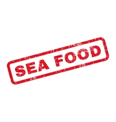 Sea food rubber stamp vector