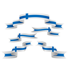 set finland insignia in different shape of vector image