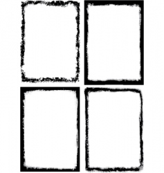 Set of 4 grungy frames vector