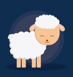 Sheep cartoon design vector