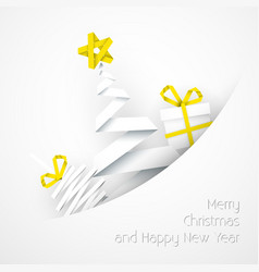 Simple white christmas card vector image vector image