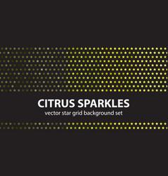 star pattern set citrus sparkles seamless vector image