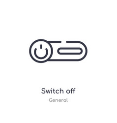 Switch off outline icon isolated line from vector