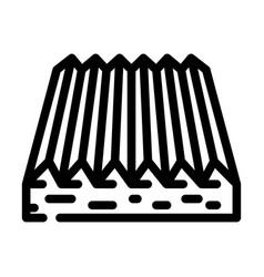 Tactile flooring line icon vector