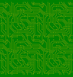 Technology background with golden microchip on vector