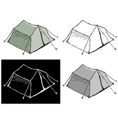 touristic tent vector image