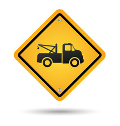 tow road sign vector image
