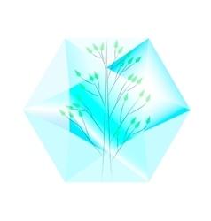 tree in diamond vector image
