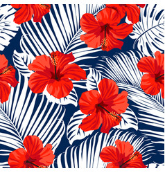 Tropical flowers vector