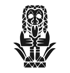 tropical idol icon simple style vector image