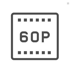 video quality film production technology icon vector image