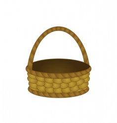 Wattled basket vector