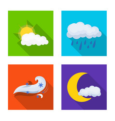 weather and climate logo vector image