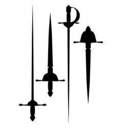 a set of ancient arms vector image vector image