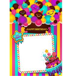 happy birthday frame vector image