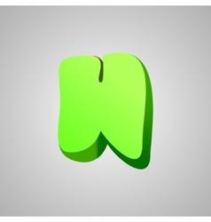 Letter h comic style font eps10 vector