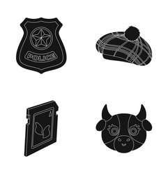 Milk law and order and or web icon in black style vector