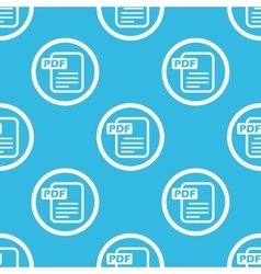 PDF file sign blue pattern vector image vector image