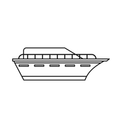 Powerboat icon outline style vector image vector image