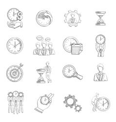 Time Management Sketch vector image