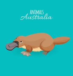 australia animal brown crawling duckbilled vector image vector image