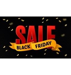 Black friday sale design template Sale vector image vector image