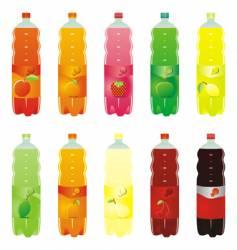 carbonated drink bottles vector image