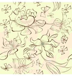 decorative seamless wallpaper vector image vector image