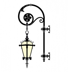wall street lamp vector image vector image