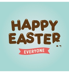easter card chocolate letter vector image