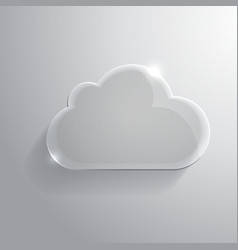 Glossy cloud vector image vector image