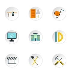 Repair icons set flat style vector image