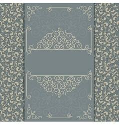 Vintage luxury card or invitation vector image vector image
