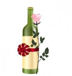 bottle4 vector image
