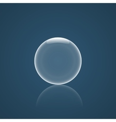 Bubble Icon with reflection vector image vector image