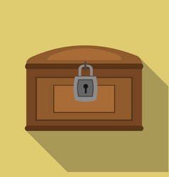 chest icon flate singe western icon from the wild vector image